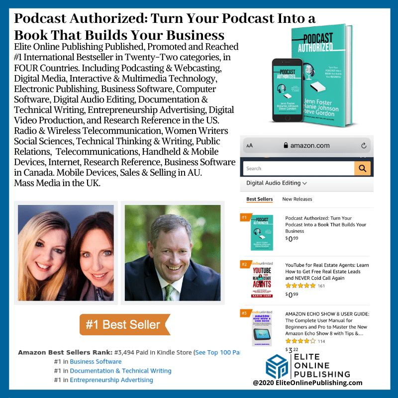 Melanie Johnson Hits #1 International Bestseller with the Book Podcast Authorized